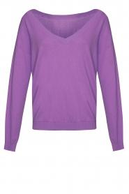 Les Favorites |  Basic cotton sweater Day | purple  | Picture 1