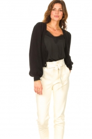 Liu Jo |  Knitted cardigan Jara | black  | Picture 5