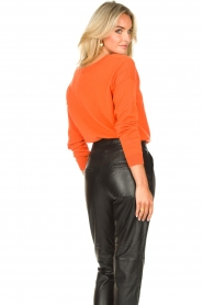 Les Favorites |  Basic cotton sweater Day | orange  | Picture 7