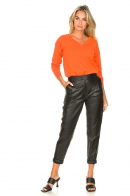 Les Favorites |  Basic cotton sweater Day | orange  | Picture 3
