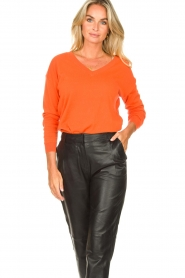 Les Favorites |  Basic cotton sweater Day | orange  | Picture 2