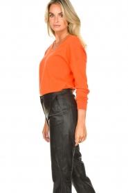 Les Favorites |  Basic cotton sweater Day | orange  | Picture 6