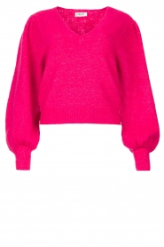 Liu Jo |  Sweater with puff sleeves Viccy | pink  | Picture 1