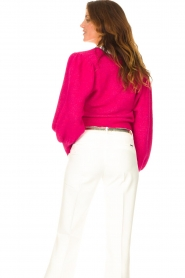 Liu Jo |  Sweater with puff sleeves Viccy | pink  | Picture 7