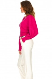 Liu Jo |  Sweater with puff sleeves Viccy | pink  | Picture 6
