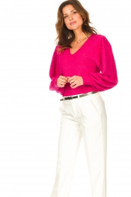 Liu Jo |  Sweater with puff sleeves Viccy | pink  | Picture 5