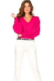 Liu Jo |  Sweater with puff sleeves Viccy | pink  | Picture 4