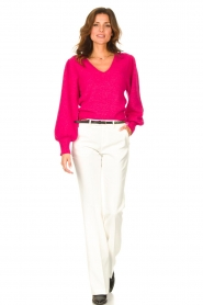 Liu Jo |  Sweater with puff sleeves Viccy | pink  | Picture 3