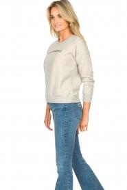Les Favorites | Basic katoenen sweatshirt Posy | grijs   | Afbeelding 5