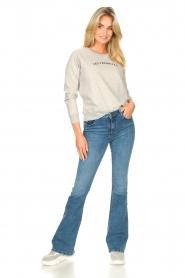 Les Favorites | Basic katoenen sweatshirt Posy | grijs   | Afbeelding 3