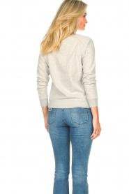 Les Favorites | Basic katoenen sweatshirt Posy | grijs   | Afbeelding 6