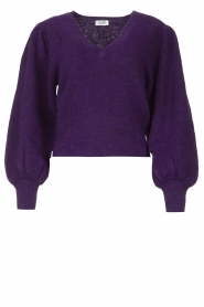 Liu Jo |  Sweater with puff sleeves Viccy | purple  | Picture 1