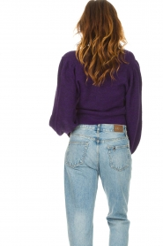 Liu Jo |  Sweater with puff sleeves Viccy | purple  | Picture 7