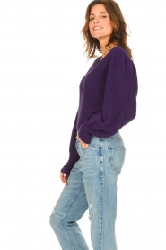 Liu Jo |  Sweater with puff sleeves Viccy | purple  | Picture 6