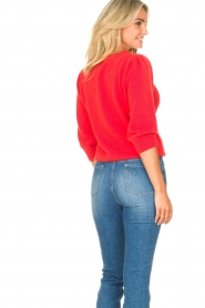 Les Favorites |  Knitted cotton sweater Scotty | red  | Picture 7