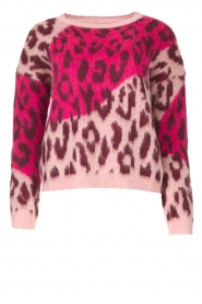 Liu Jo |  Sweater with animal print Jace | pink  | Picture 1