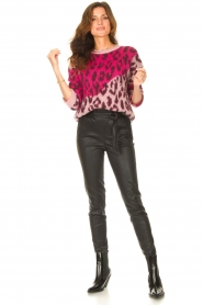 Liu Jo |  Sweater with animal print Jace | pink  | Picture 3