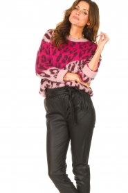Liu Jo |  Sweater with animal print Jace | pink  | Picture 5