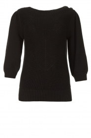 Les Favorites |  Knitted cotton sweater Scotty | black  | Picture 1