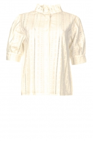 Les Favorites |  Cotton embroidery blouse Amy | white  | Picture 1