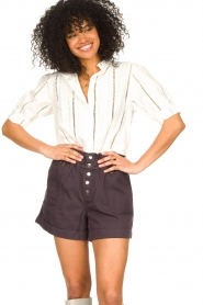 Les Favorites |  Cotton embroidery blouse Amy | white  | Picture 2