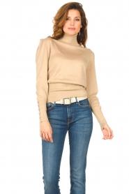Liu Jo |  Lurex turtle neck sweater Sofia | gold  | Picture 2
