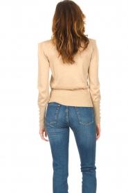 Liu Jo |  Lurex turtle neck sweater Sofia | gold  | Picture 7