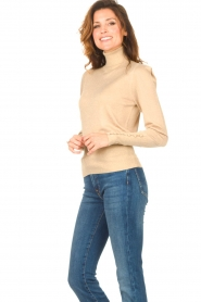 Liu Jo |  Lurex turtle neck sweater Sofia | gold  | Picture 5