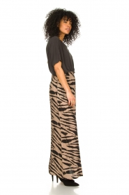 Les Favorites |  Maxi skirt with zebra print Charlotte | black  | Picture 4