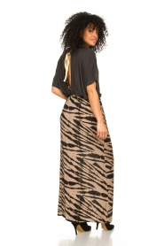 Les Favorites |  Maxi skirt with zebra print Charlotte | black  | Picture 5