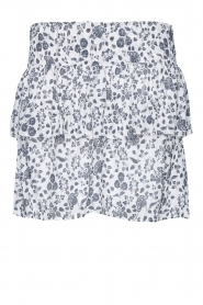 Les Favorites |  Skirt with floral print and lurex Isabell | white  | Picture 1