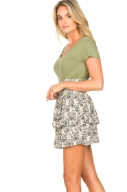 Les Favorites |  Skirt with floral print and lurex Isabell | white  | Picture 5