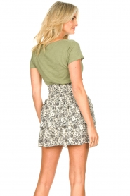 Les Favorites |  Skirt with floral print and lurex Isabell | white  | Picture 6