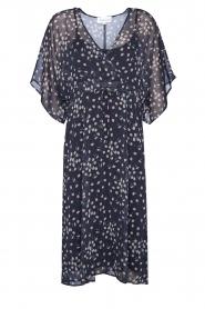 Les Favorites |  Midi floral print dress with lurex Charlie | black  | Picture 1