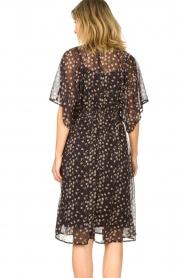 Les Favorites |  Midi floral print dress with lurex Charlie | black  | Picture 6