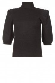 Liu Jo    Sweater with puff sleeves Ella   black    Picture 1