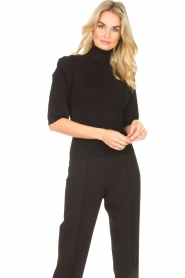 Liu Jo    Sweater with puff sleeves Ella   black    Picture 4