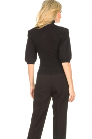 Liu Jo    Sweater with puff sleeves Ella   black    Picture 7