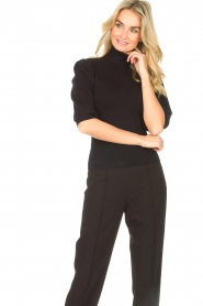 Liu Jo    Sweater with puff sleeves Ella   black    Picture 5