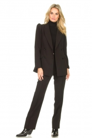 Liu Jo    Sweater with puff sleeves Ella   black    Picture 3
