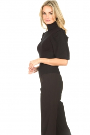 Liu Jo    Sweater with puff sleeves Ella   black    Picture 6