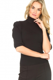 Liu Jo    Sweater with puff sleeves Ella   black    Picture 8