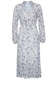 Les Favorites |  Midi floral print dress with lurex Ella | white  | Picture 1