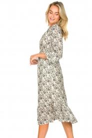 Les Favorites |  Midi floral print dress with lurex Ella | white  | Picture 6