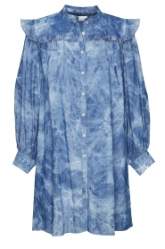 Les Favorites |  Cotton dress with puff sleeves Dolly | blue  | Picture 1