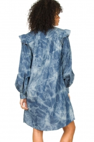 Les Favorites |  Cotton dress with puff sleeves Dolly | blue  | Picture 6