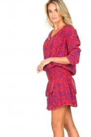 Les Favorites |  Dress with floral print Flori | pink   | Picture 6