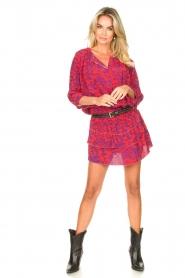 Les Favorites |  Dress with floral print Flori | pink   | Picture 3