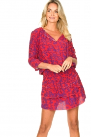Les Favorites |  Dress with floral print Flori | pink   | Picture 2