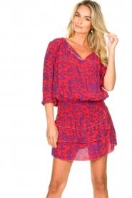 Les Favorites |  Dress with floral print Flori | pink   | Picture 5